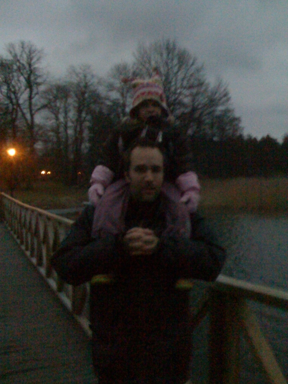 Richard and Maya by the lake.