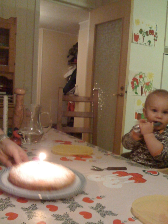 ...and a baby birthday (note distance from candle!!)