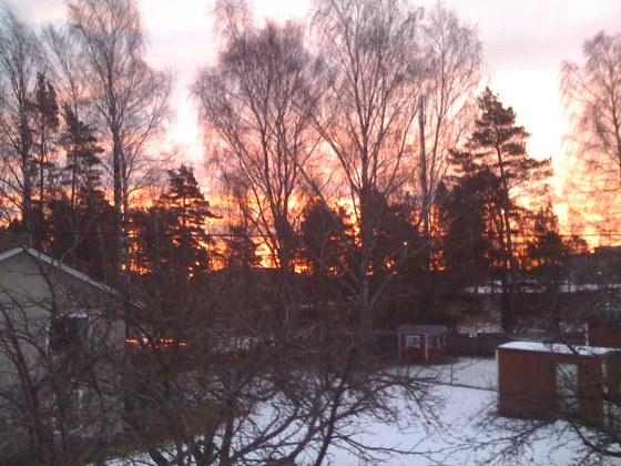 A beautiful dawn from our window...
