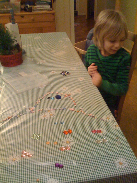 "Leon sorted his ""jewels"", which went on to become characters!!!!"