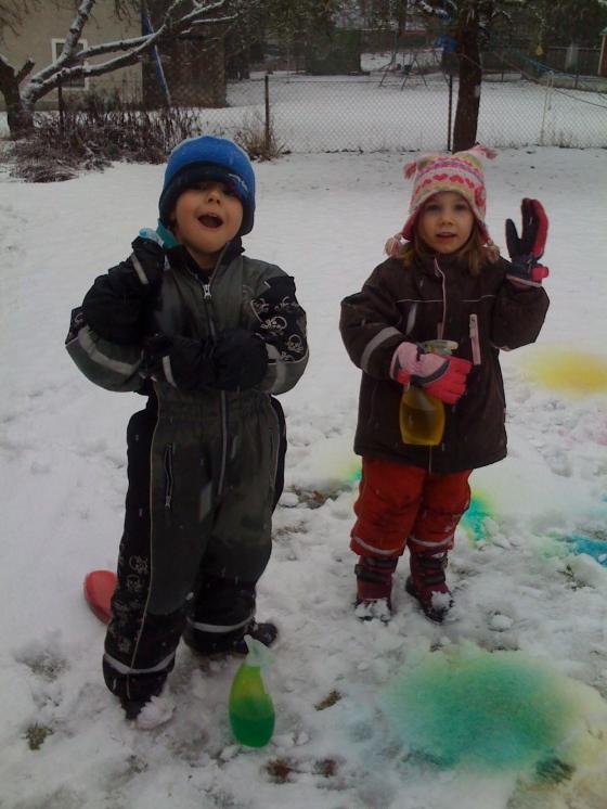 Lets colour the snow!