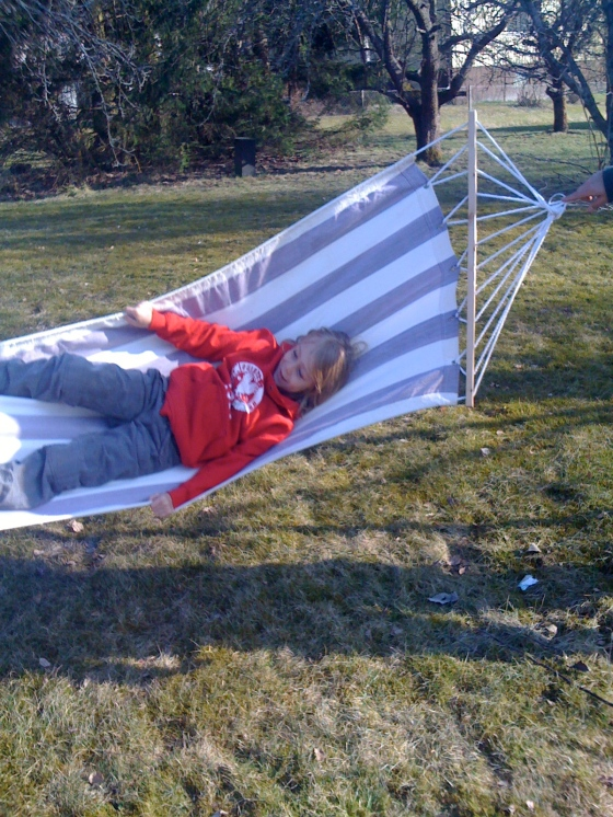 Playing in the hammock...