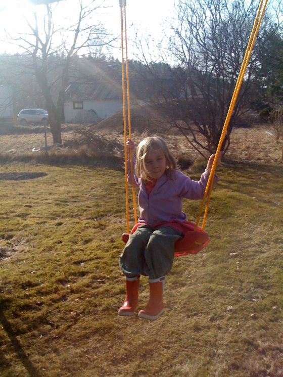 ...on the swing..