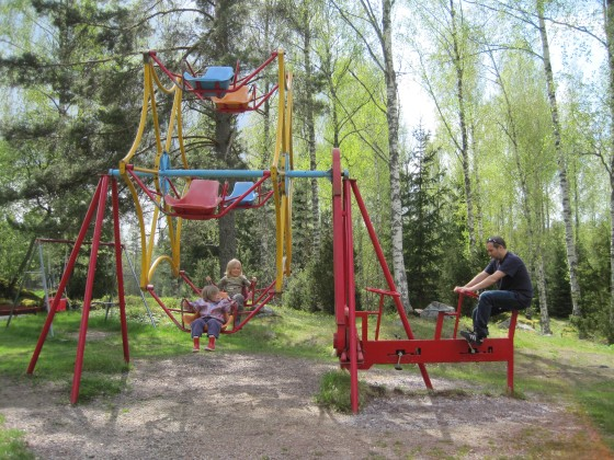 """Ah yes, of course! In Sweden they have """"do it yourself"""" carousels....!"""