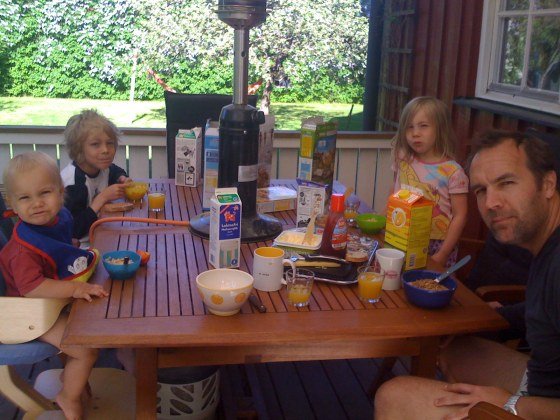 8 am - Breakfast on the veranda (yes - outside!!!)