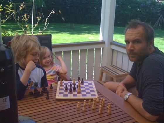 9 am - Chess on the veranda
