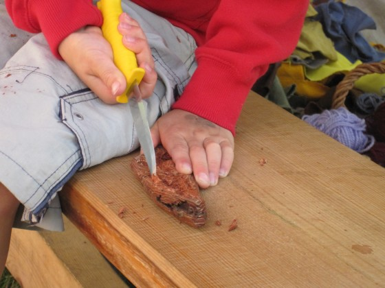 Making bark boats