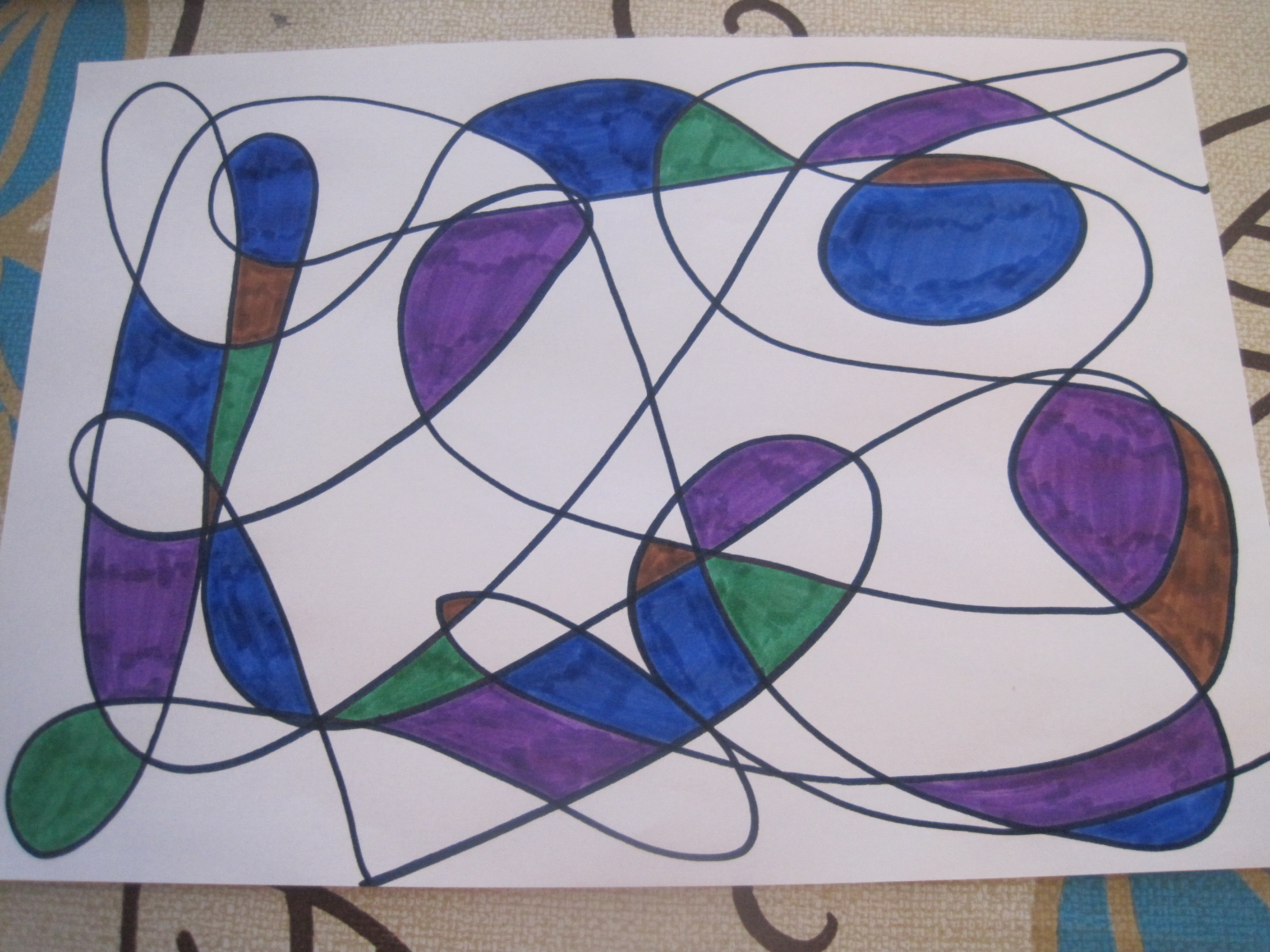Scribble Drawing For Kids : Scribble art squashed tomatoes